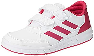 adidas Boys AltaSport CF Trainers, Footwear White/Real Magenta/Real Magenta, 1 US