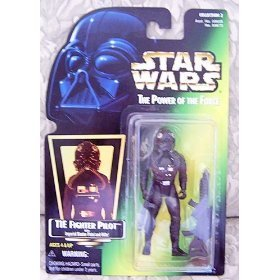 Star Wars The Power of the Force Action Figure - Tie Fighter Pilot - Green Card with Hologram Picture - Fighter Power Cards