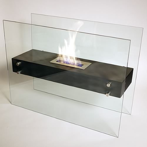 Fountain Large Water Floor Serenity (Nu-Flame La Strada Ethanol Fireplace)