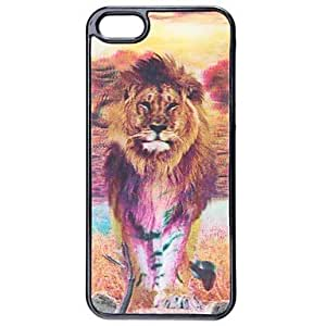 LIMME Cool Change Freely Lion and Tiger Style 3D Graphic Protective Plastic Hard Case for iPhone 5/5S