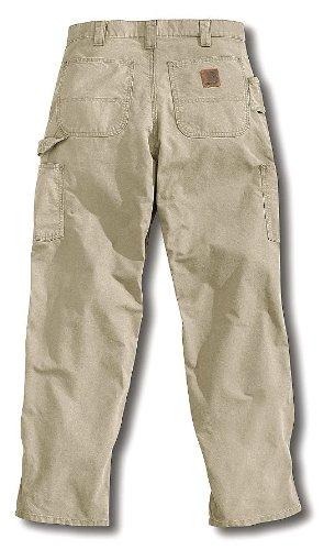 3 Dungarees (Carhartt - B151-TAN 32 34 - Men's Dungaree Canvas Work Pants, 100% Ring Spun Cotton Canvas, Color: Tan, Fits Waist Size: 32 x 3)