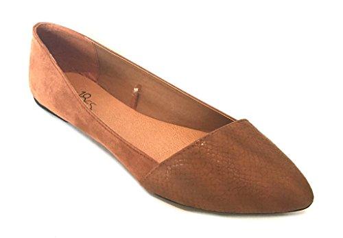 Shoes8teen Frauen Faux Wildleder Loafer Smoking Schuhe Wohnungen 3 Farben Tan 5069A