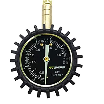 ATsafe 2 in 1 Professional Rapid Air Down Tire Deflator Pressure Gauge 75Psi with Special Chuck for 4X4 Large Offroad Tires on Jeep, Truck, ATV: Automotive