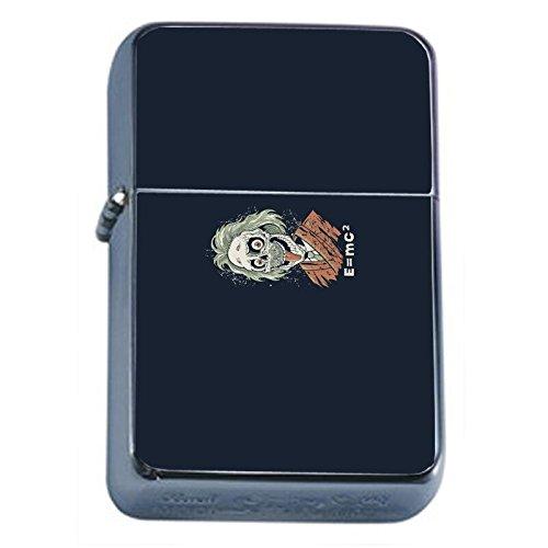 Zombie Einstein Flip Top Oil Lighter Em1 Smoking Cigarette Silver Case Included