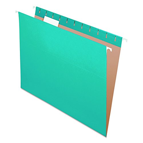 Pendaflex Recycled Hanging Folders, Letter Size, Teal, 1/5 Cut, 25/BX (81614)