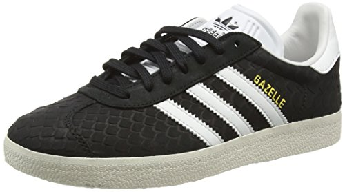 adidas Gazelle - Zapatillas Mujer Negro (Core Black/Crystal White/Chalk White)