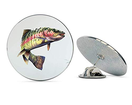 "NYC Jewelers Rainbow Trout Metal 0.75"" Lapel Hat Pin Tie Tack Pinback"
