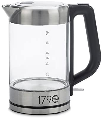 1790 Electric Kettle 1.8 Liter – 0.5 Gallon BPA Free, Cordless, Stainless Steel Finish – The Perfect Electric Tea Kettle Water Boiler