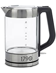 1790 Electric Kettle 1.8 Liter - (0.5 Gallon) BPA Free, Cordless, Stainless Steel Finish - The Perfect Electric Tea Kettle & Water Boiler - No Plastic Contact!