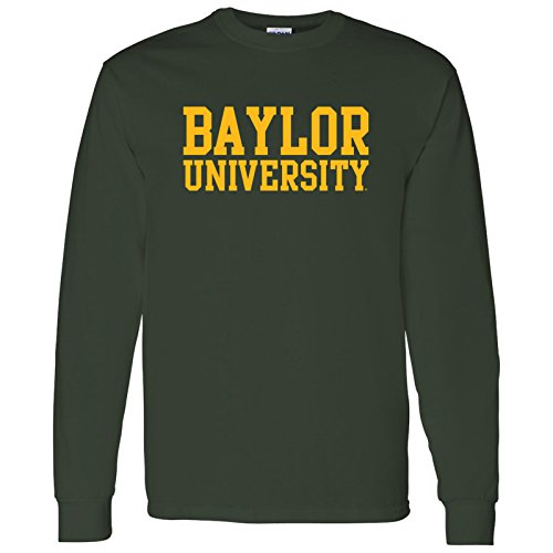 - Baylor Bears Basic Block Long Sleeve – 3X-Large - Forest Green