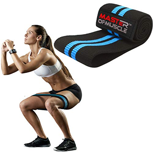 HIP RESISTANCE BAND - Heavy Fabric Hip Bands for Glute & Legs Activation before Squat & Deadlifts - Grippy Non-Slip Heavy Duty Cloth for Best Booty, Hip and Butt Workout Exercise (Medium Size)