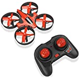 Hobbylane RC Mini Drone for Kids, Headless Mode Nano Drone 2.4Ghz 6-Axis Gyro with 3D Flips and LED Lights RC Quadcopter, Great Pocket Drone Gifts for Adults & Beginners (Red)