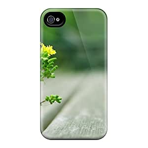 SaladCases GbCPt8989aqmWp Protective Case For Iphone 4/4s(flower And Wood)