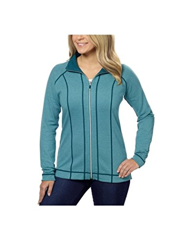 Kirkland Signature Ladies' Reversible Full Zip Jacket (3X, Green)