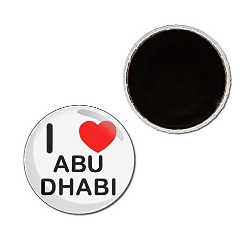 I Love Abu Dhabi - 25mm Button Badge Fridge Magnet - Abu Badge