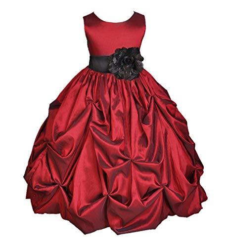ekidsbridal Apple Red Pick-Up Bubble Taffeta Flower Girl Dress Birthday Girl Dresses Easter Summer Dresses 301S 8