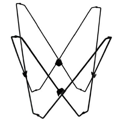 Gentil White Butterfly Chair Frame