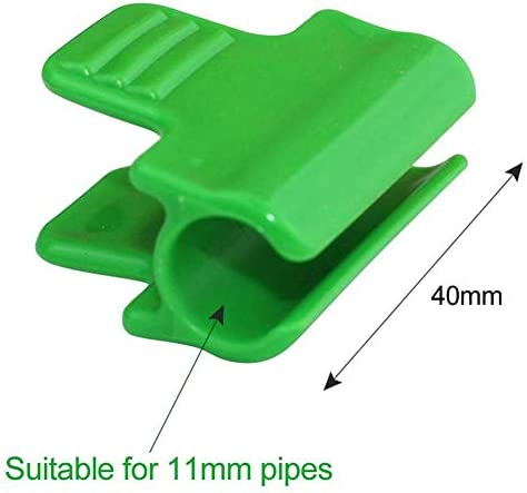 iFlymisi 20Pcs Greenhouse Clamps,Greenhouse Film Row Cover Netting Tunnel Hoop Clips for 11mm Plant Stakes Pipe
