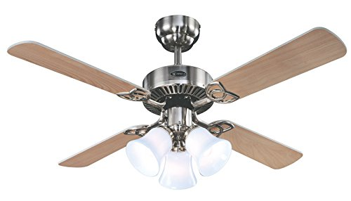 Westinghouse 7842065 Crusader 42 Inch Ceiling Fan, Brushed Nickel Finish