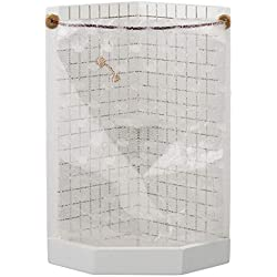Aztec Imports, Inc. Dollhouse Miniature Corner Shower Stall