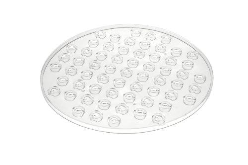 Wenko 2005575100 Spülbeckeneinlage Kristall - extra stark, rund, Kunststoff, 31 x 1 x 31 cm, Transparent
