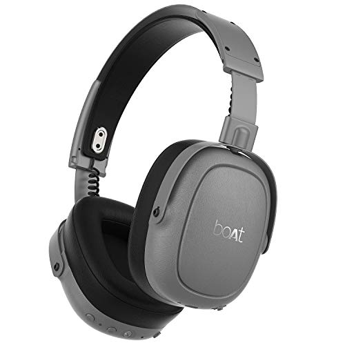 boAt Nirvanaa 715 ANC Active Noise Cancellation Headphones (Silver Blaze)