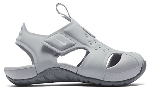 NIKE Toddler Boy's Sunray Protect 2 Sandal, Wolf Grey/White-Cool Grey, (Nike Lightweight Sandals)