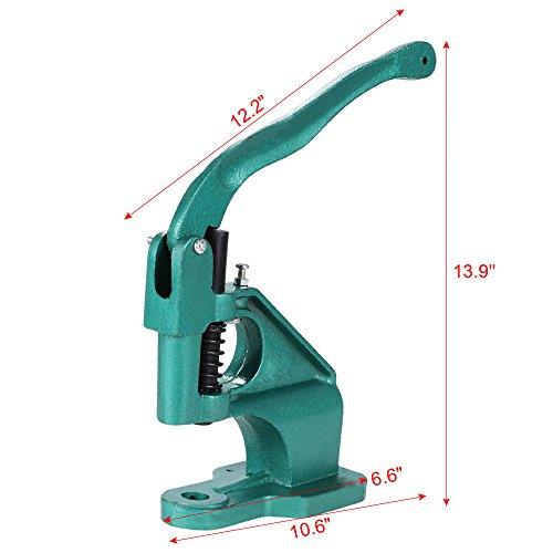 Rivet Machine Eyelet Hand Press Tool Banner Grommet Punch Machine 3 Die(#0#2#4) & 1500 US by Pro-G (Image #4)