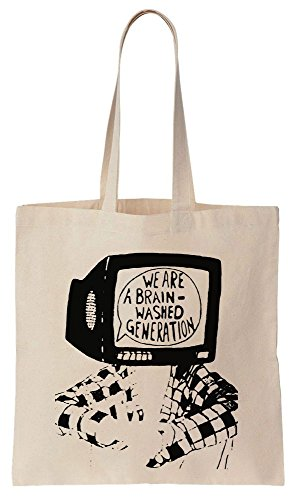 We Are Brainwashed Generation Sacchetto di cotone tela di canapa