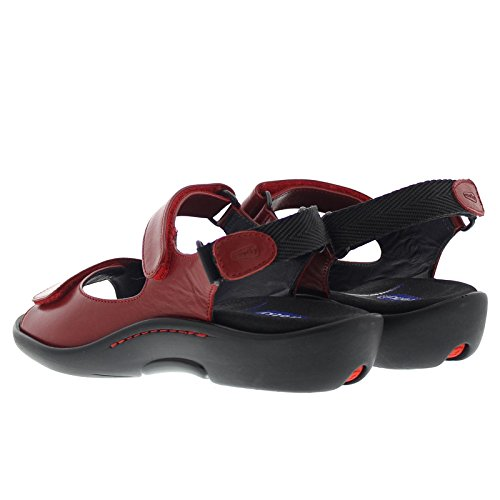 Black Sandals Salvia Womens 1300 Wolky Red vOEqaW
