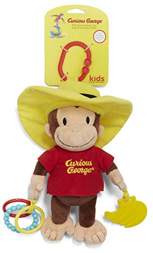Kids Preferred Curious George Pull-Down Plush Activity Toy, 17