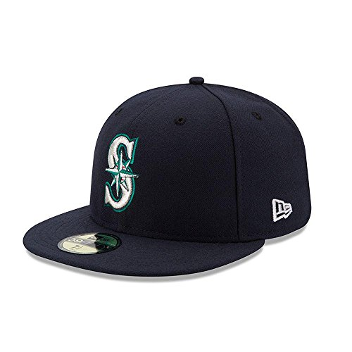 New Era 59FIFTY Seattle Mariners MLB 2017 Authentic Collection On Field Game Fitted Cap Size 7 1/2