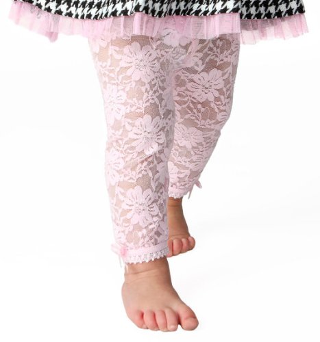 Price comparison product image Baby Emporio-Baby & Toddler Girl Lace Leggings-Satin Bows-Gift Bag-12-18M