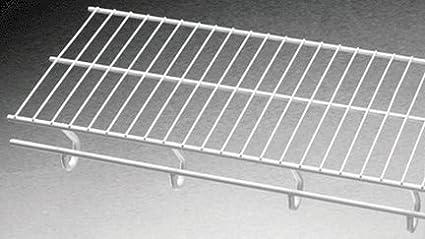 Schulte 1710 1612 11 Open Slide Hanging Ventilated Shelf White 16u0026quot ...