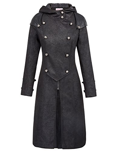 Belle-Poque-Gothic-Victorian-Medieval-Buttons-Decorated-Hooded-Long-Trench-Coat-BP000455