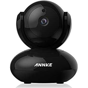 ANNKE 1080P IP Camera 1920TVL Wireless Pan/Tilt/Zoom Security Camera with 2-Way Audio and Motion Detection Black
