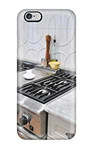 New Design Shatterproof EEuLrFw6642XVFcQ Case For Iphone 6 Plus (gourmet Oven And White Backsplash With Geometric Textured Tile)