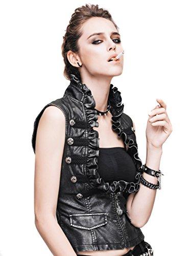Steampunk Gothic Punk Clothing Pirate Renaissance Costume Cyberpunk Vest Jackets (L) ()