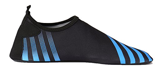 norocos Damen Leichte Wasserschuhe Weiche Quick-Dry Aqua Socken Für Beach Surf Yoga Streifen blau
