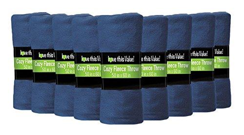 Amazon Com 12 Pack Wholesale Soft Comfy Fleece Blankets