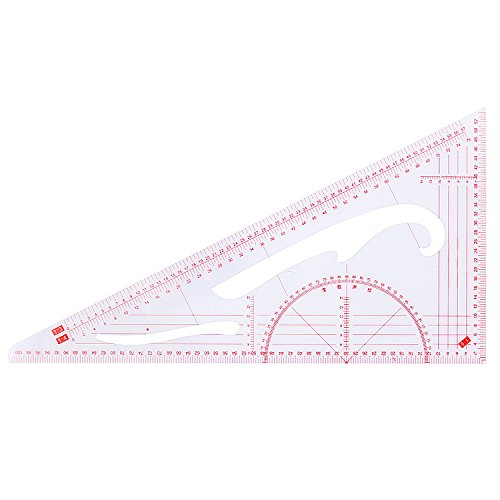 Unime Sewing Tools 4 Stlye Sew French Curve Metric Shaped Ruler Measure for Sewing Dressmaking Pattern Design Bendable Drawing Template