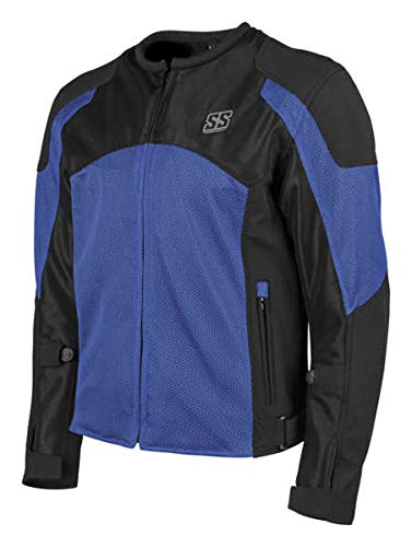 Speed and Strength Midnight Express Mesh Men's Street Motorcycle Jacket - Blue/Black / Large