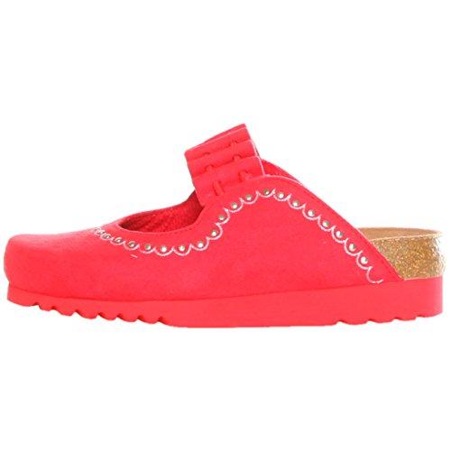 Scholl CHAKRA F232581051 Mädchen Clogs Hausschuhe Pantoletten EU 35 UK 2.5 rot