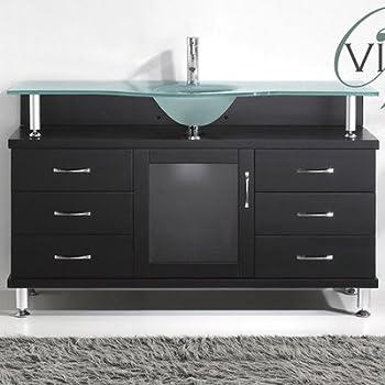 Virtu USA MS 55 FG ES Vincente 55 Inch Bathroom Vanity With
