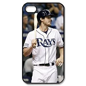 MLB iPhone 4,4S Black Tampa Bay Devil Rays cell phone cases&Gift Holiday&Christmas Gifts NADL7B8825020