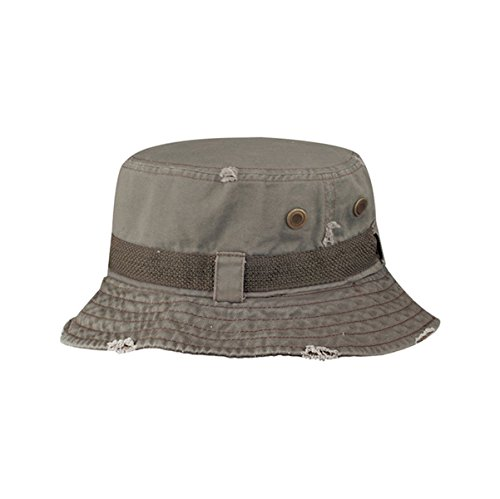 Cheap Pork Pie Hats (Hats & Caps Shop Frayed Cotton Twill Washed Bucket Hat - By TheTargetBuys | (OLIVE))