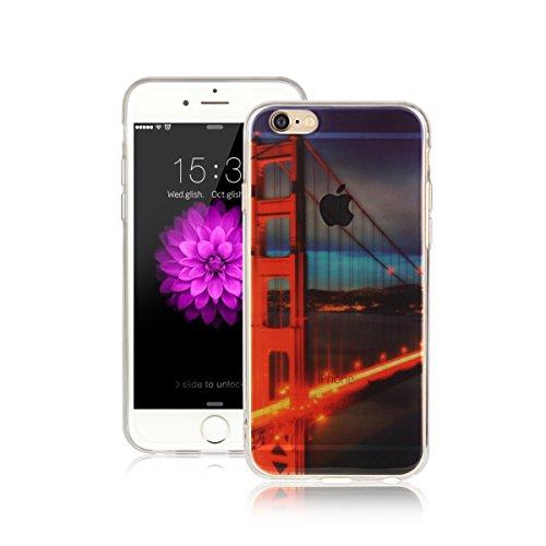 Für Apple iPhone 6 / iPhone 6S (4.7 Zoll) Hülle ZeWoo® TPU Schutzhülle Silikon Tasche Case Cover - AK017 / Verkehr-Brücke