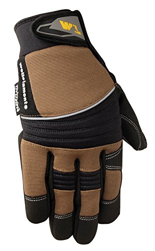 Men's Hi-Dexterity Winter Gloves, 60-gram Thinsulate, Synthetic Leather Palm, Large (Wells Lamont (Winter Leather Work Gloves)