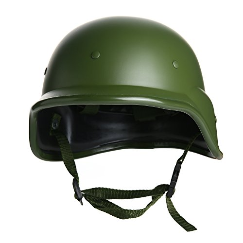 VILONG Tactical M88 ABS Helmet with Adjustable Chin Strap for CS Game Outdoor Sports Modern Warrior Green