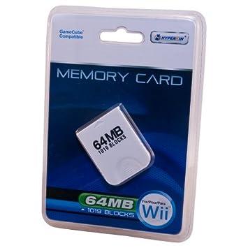 Tarjeta de memoria de Wii / Gamecube 64MB (1019 Bloques ...